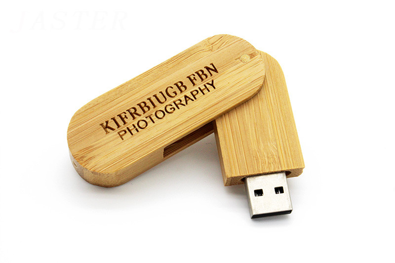 (over 10 PCS Free LOGO) Wooden Rotation Round Saber USB Flash DrivePhoto Sticks