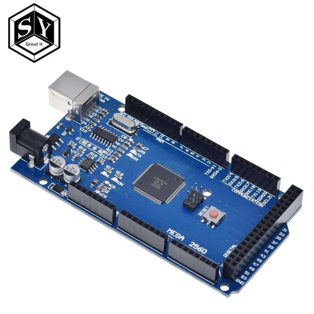 1PCS Grande É 2560 Mega R3 Mega2560 REV3 (ATmega2560-16AU CH340G) placa NENHUM Cabo USB compatível [NENHUMA linha USB]
