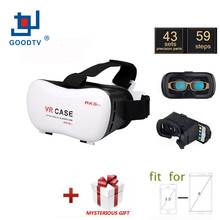 VR 3D CASE Virtual Reality Glasses Upgraded Version Immersive Headset Plastic Head Mount for 4.7–6.0 inch Phones