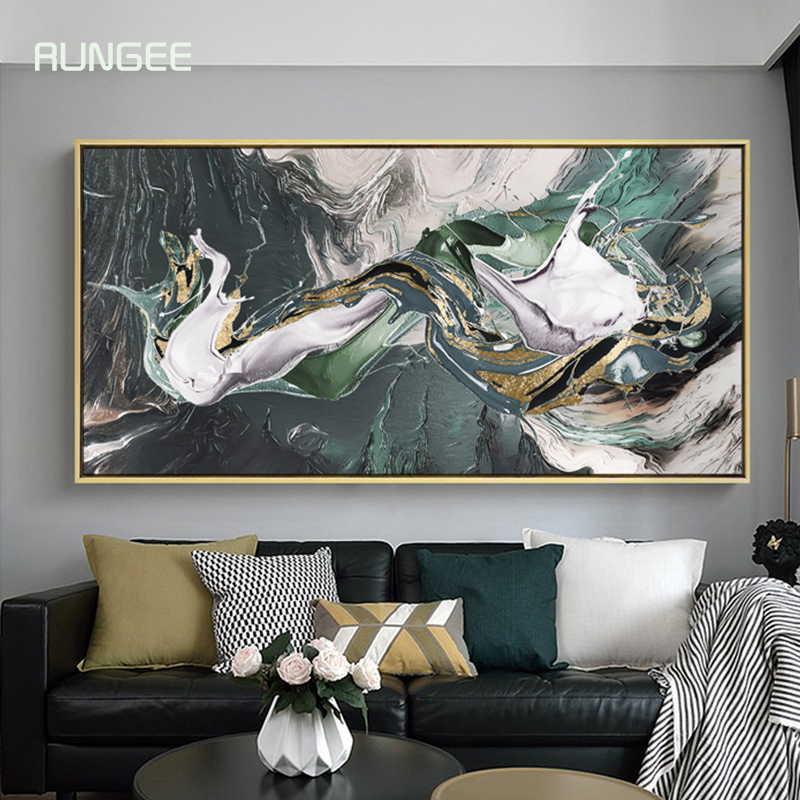 100% Hand Painted Abstract Sea Wave Art Oi Painting On Canvas Wall Art Wall Adornment Pictures Painting For Live Room Home Decor