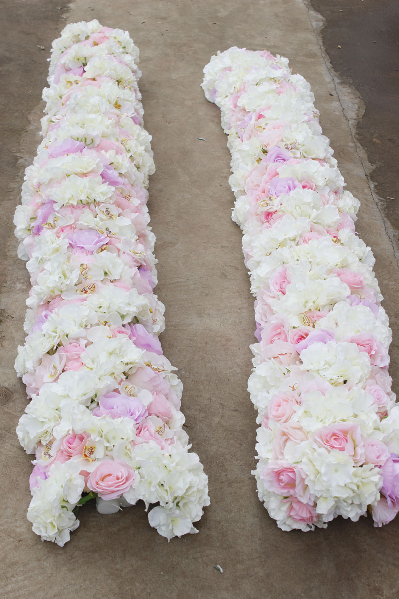 acheter spr 2018 2 m/pcs de mariage petit arc fleur chemin de table