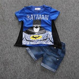 Комплект одежды для мальчиков с человеком-пауком; летняя детская одежда; Детские костюмы; комплект одежды с Бэтменом; футболка + шорты; спортивные костюмы для мальчиков; PR040
