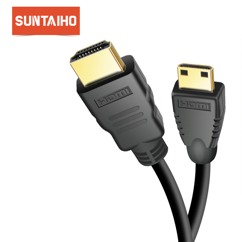 Suntaiho Mini HDMI to HDMI Cable 1m 2m 3m 5m 10m Male to Male High Speed HDMI Cable 4K 3D 1080P for Tablet Camcorder MP4 DVD 1080p hdmi male to micro hdmi male cable green 150 cm