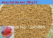 Wholesale Small fish Discus fish food  mini fish feed food -200g 0.5-1.0mm free shipiing стоимость