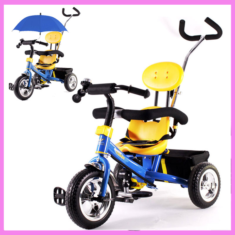 Baby 3 Wheel Tricycle Bike Stroller Preschool Children Bicycle Tricycle Guadrail Shopping Basket Buggy Pram Pushchair 6M~6Y baby stroller pram bb rubber wheel inflatable tires child tricycle infant stroller baby bike 1 6 years old bicycle baby car
