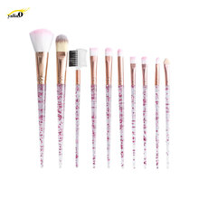 Get more info on the YALIAO 10pcs Professional Cosmetic Brush Makeup Brush Set Foundation Eye Shadow Blush Blending Lip Brush Make Up Tools Kit