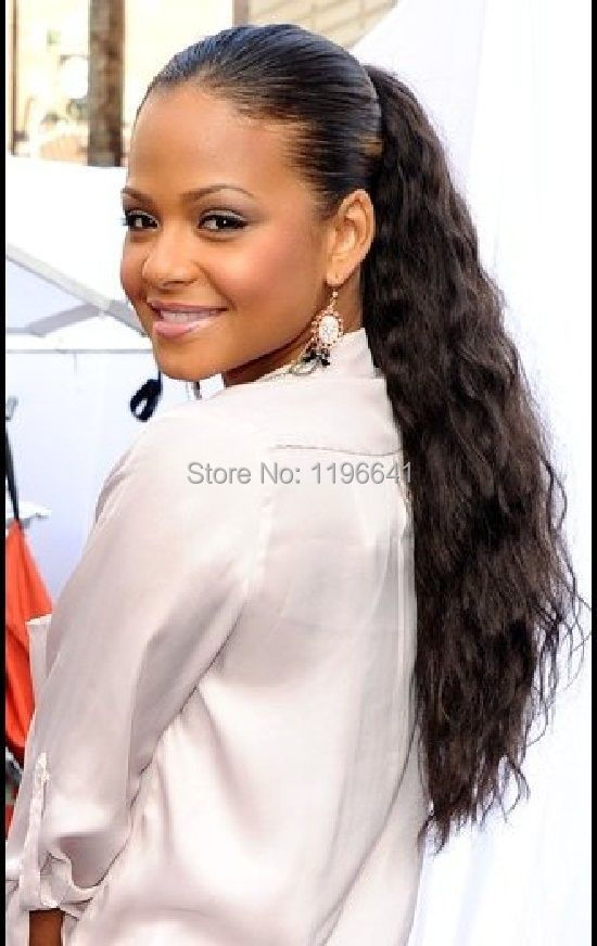 Wear This Ponytail You Must Make A Small With Your Own Hair And Then Just Simply Wrap The E Aroune It Securely Ri