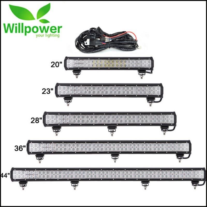 цена на 20''23''28''36''44'' LED Light Bar For 4x4 Off Road Truck SUV ATV Boat Car 4WD 12V 24V Combo Beam Led Work OffRoad Bar Lights