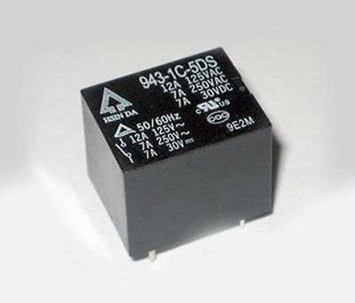 50pcs PCB Relay Coil 5V DC Contact 7A 943-1C-5DS50pcs PCB Relay Coil 5V DC Contact 7A 943-1C-5DS
