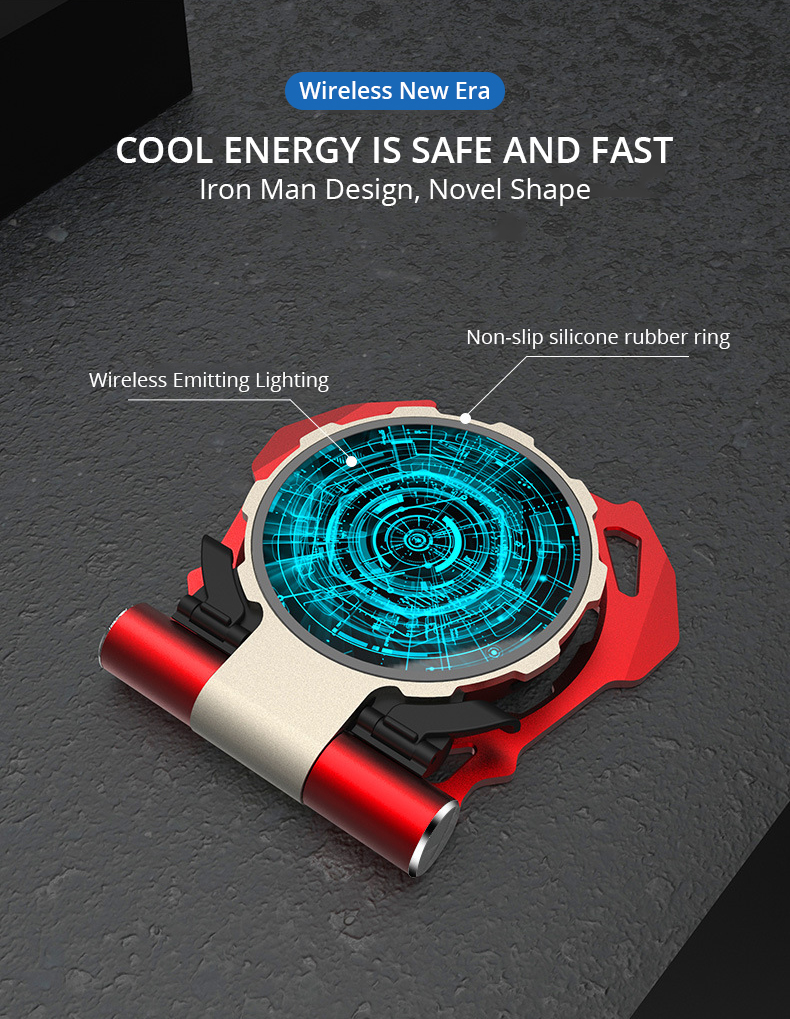 Metal Iron Man Wireless Charger (8)