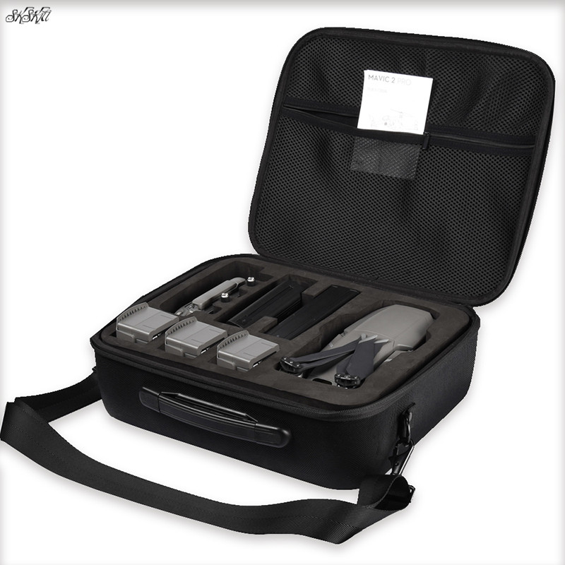 цена Upgraded version portable hard shell drone storage bag spare parts box Shoulder handbag case for dji mavic 2 zoom pro drone