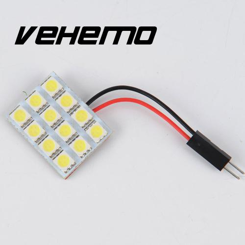 SMD 5050 SMD chip Pure Cool White Light Panel T10 BA9S adaptors car 12 LED Interior 12V 6000K Bright