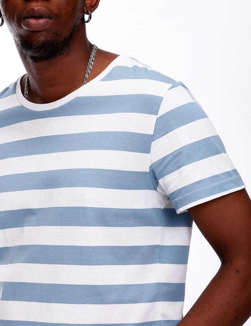 e8796065548d ... Striped Shirt for Men Stripe T Shirt Male Top Tees Navy Russian Shirt  Even Basic Wide
