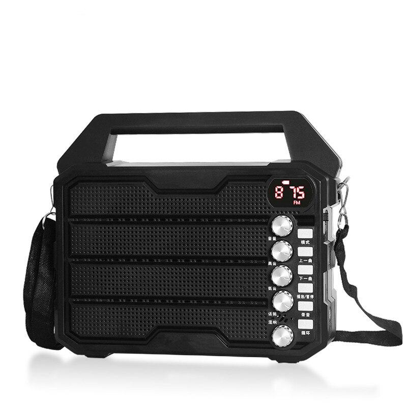 Haut-parleur Portable extérieur sans fil bluetooth caisson de basses danse audio U disque TF lecteur de carte FM radio Rechargeable machine de chant