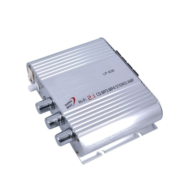 High Quality Car Amplifier LP-838 12V Smart Mini Hi-Fi Stereo Audio Amplifier for Home Car Auto MP3 MP4 Stereo Boat Motorcycle 4