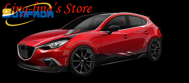 Sunfada hot sale sport style car whole body decal car stickers for mazda 3 6 axela