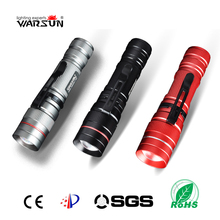 Warsun Penlight 2000LM Waterproof LED Flashlight Torch 3 Modes Zoomable Adjustable Focus Lantern Portable Tactical Flashlight