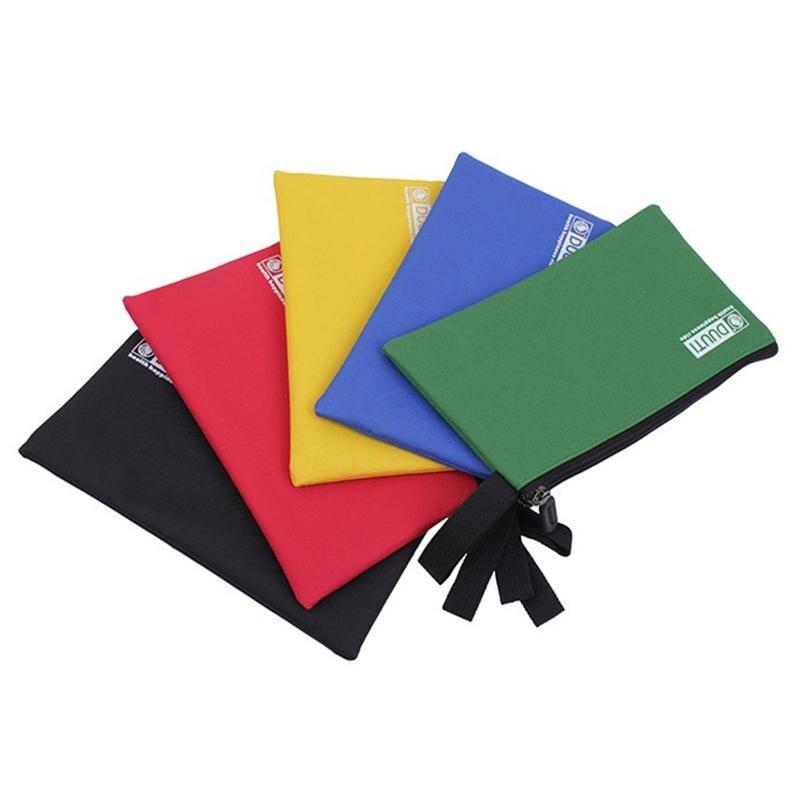 WINOMO 5pcs Heavy Duty Multi-purpose Canvas Zipper Tool Pouches Bag Organize Storage Bags