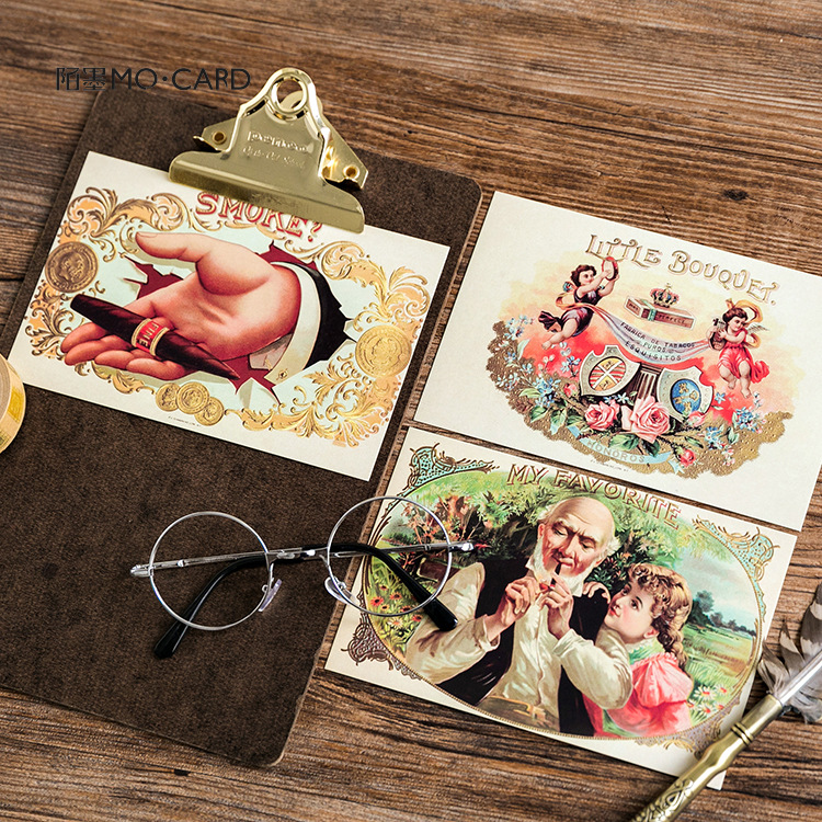 3 set/1 lot Retro Golden Age Greeting Card Postcards Birthday Bussiness Gift Card Set Message Card