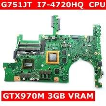 G751JT MB_0M/I7-4720HQ/AS GTX970M, 3 Гб оперативной памяти, 90NB06M1-R00040 материнская плата ASUS ROG G751JT G751JY G751JL G751J G751 материнская плата для ноутбука