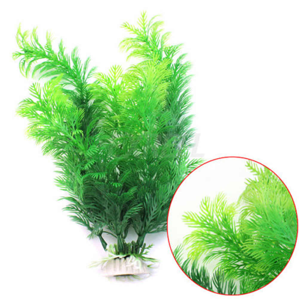 UK Aquarium Grass Decoration Water Weeds Ornament Plastic Plant Fish Tank Decor