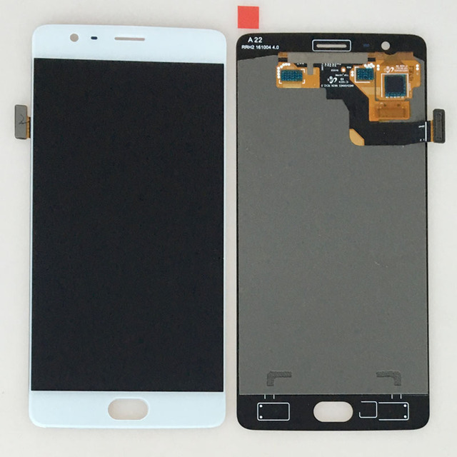 "White Display For OnePlus 3 Three 1+3 A3000 A3003 5.5"" LCD Display Touch Digitizer Screen Glass Assembly"