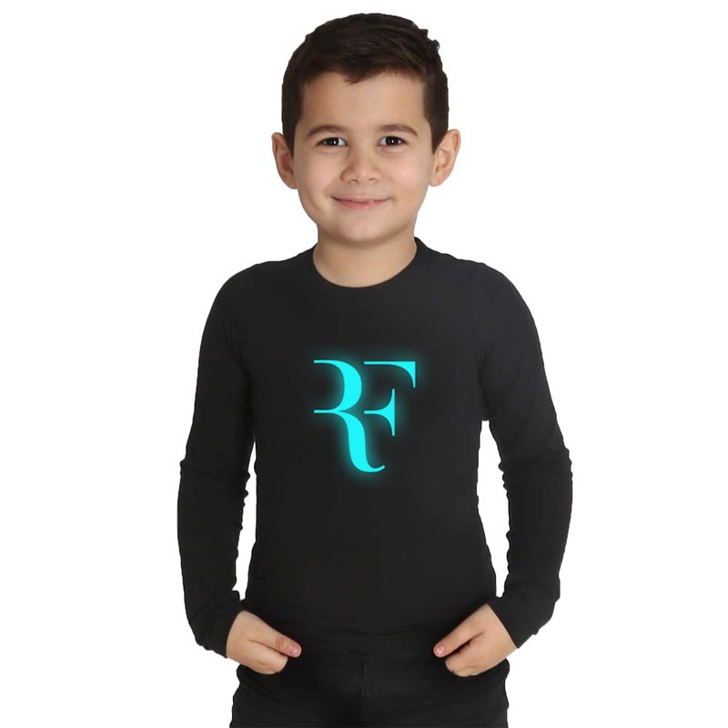 LYTLM Children T Shirts Girls 10 years Federer Tshirt Boys Long Sleeve Tee Shirt 2019 Luminous Girls Tops Hip Hop Streetwear
