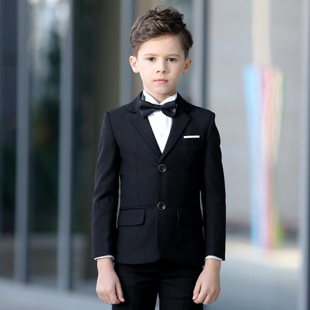 Brand Child Boy Clothing kids boy wedding suits coat/vest/pant ...
