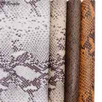 Lychee Life 29x21cm A4 Embossed Snake Pattern PU Fabric For Handbag Garments Synthetic Leather Fabric Sewing Materials