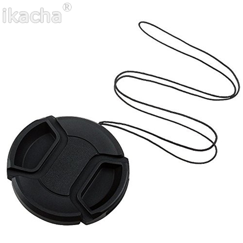 Camera Lens Cap Protection Cover 49mm52mm55mm58mm62mm67mm72mm77mm With Anti-lost Rope Free Shipping