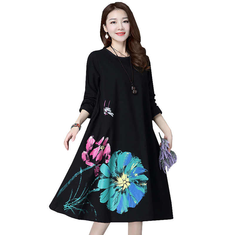 a33d65b73 De moda de manga larga vestido de maternidad suelta gran tamaño ropa para  mujeres embarazadas vestidos