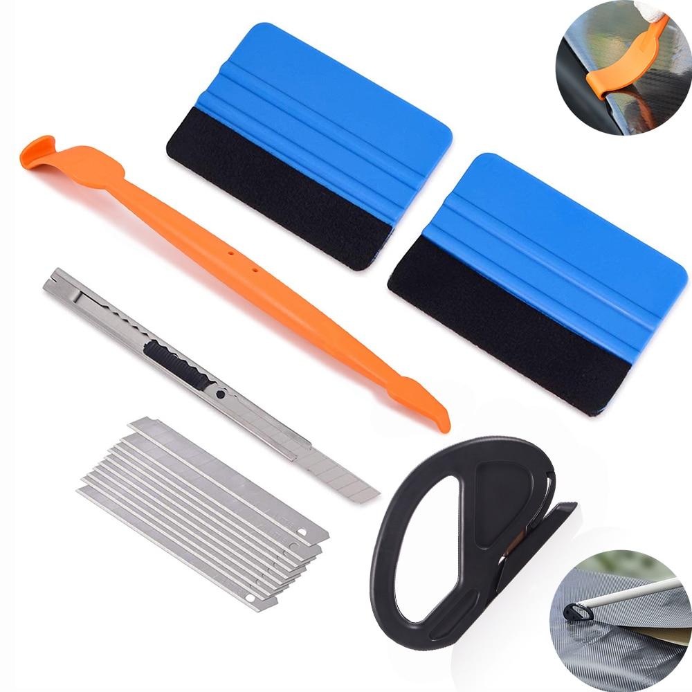 FOSHIO Window Tint Tool Car Accessories Vehicle Foil Vinyl Wrap Magnet Squeegee Sticker Film Applicator Cutter Knife
