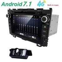 HD Quad Core A9 1.6 GHz 1024X600 Android 7.1 Auto Dvd-speler voor Honda CRV CR-V 2006-2011 4G WiFi GPS Navigatie Stereo Video SD