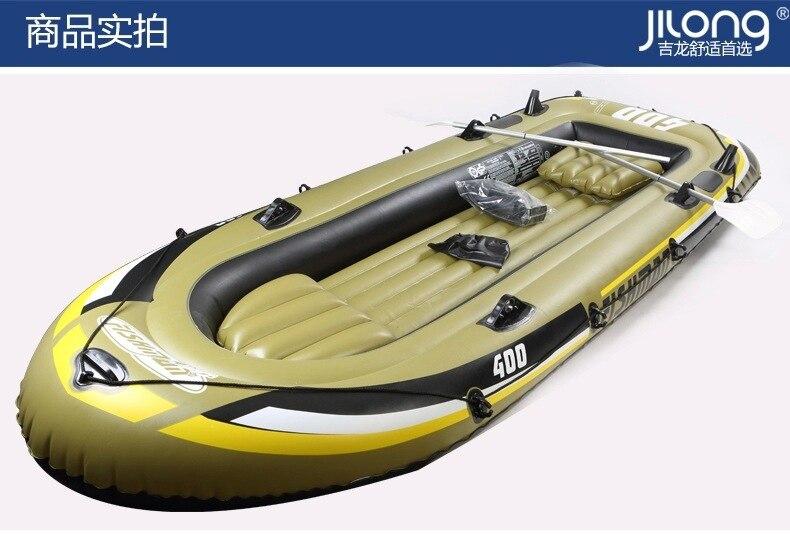 Bateau de pêche gonflable 2/3/4 personnes bateau de pêche écologique en PVC 2/3/4 simple Hovercraft 500 kg chargement