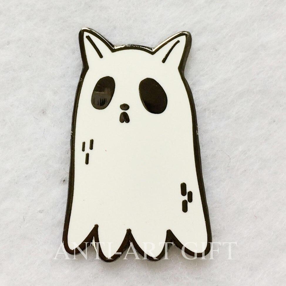 Заказной жесткий эмаль металлический значок прекрасная форма животных белый краситель