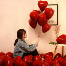10pcs Red Pomegranate Balloon 10inch red heart shape ballon wedding party birthday Valentine day decorated ballon party supply цены онлайн