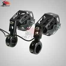 Motorcycle black Fog Lights Spotlight Lamp Brackets For aprilia SXV550 SXV450