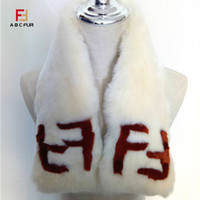 Warm scarf Ms. 2018 Rex Rabbit F letter Neck style fashion trend girl favorite whole skin good hair collar elegant and generous