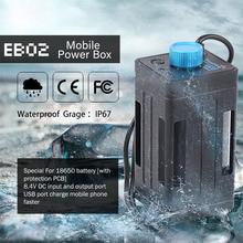 TrustFire EB02/EB03 Bike Waterproof 8.4V 18650 Battery USB Power Bank Case Box DC Pack For Led Light