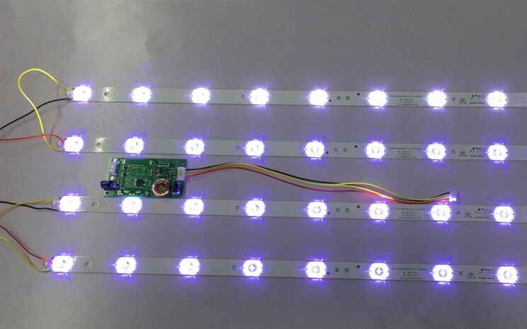 4pcs x 32 inch LED TV Backlight Strips 4708-K320WD-A2213K01 for 32'' TCL  LE32D59 & for Philips 32PFL3045 8-LEDs 618mm