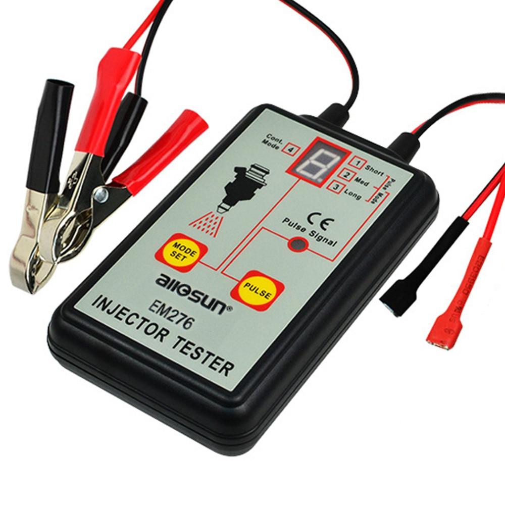 цена на 4 Pulse Modes Automotive Fuel Injector Tester Fuel Pressure Signal Indicator Diagnostic Tool 12V Testing Tool Gauge