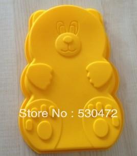 cec7a1194594d ᐅSilikon Kek Kalıp, ayı sabun kalıpları 23.5*15.5*3 CM - w514