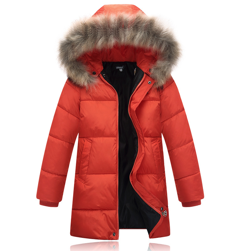 2017 New Kids Boys Autumn Winter Cotton Outerwear Hooded Coat Thick Wadded Jacket Parkas Child Clothing Kids Free Shipping