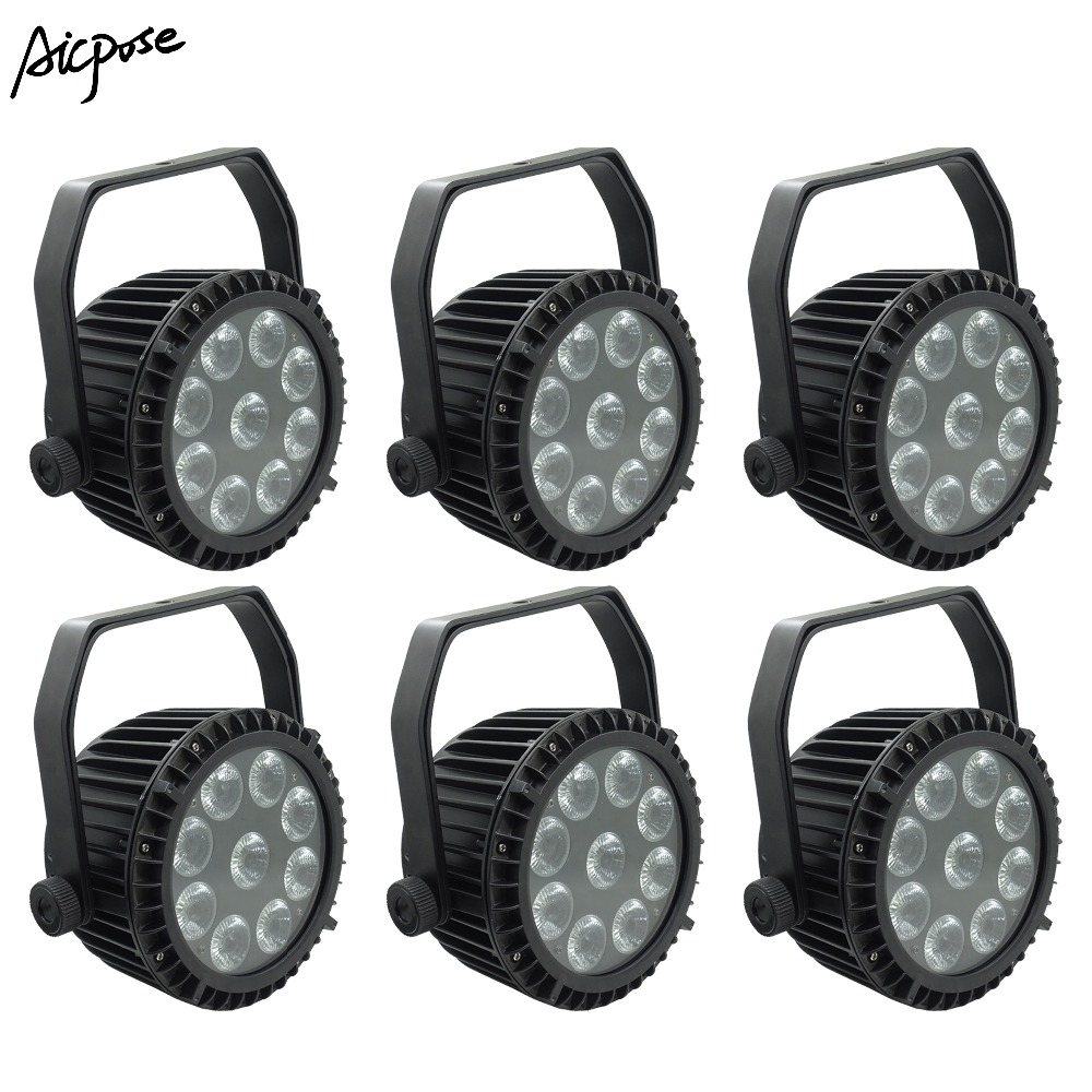 6pcs/lots IP65 Waterproof 9x10w RGBW 4 In 1 Outdoor Waterproof Stage Light With DMX512 Control Wall Washer Light Staining Light