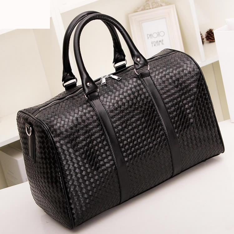 Waterproof Duffle Bags >> Women Pu Leather Handbag Male Duffel Bag Luggage Travel ...