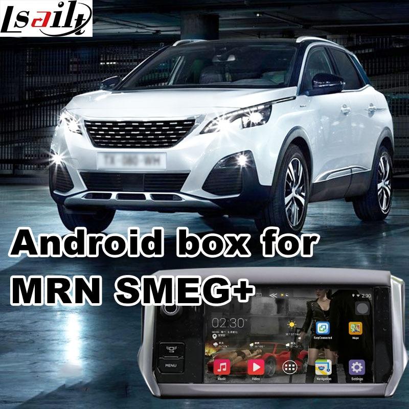 Android 6,0 GPS навигационная коробка для peugeot 3008 2017 5008 позже синий я система видео интерфейс коробка с Carplay youtube waze