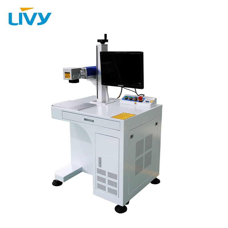 LIVY 50 watt laser source fiber laser marking machine metal deep engraving caving with free computer for sale