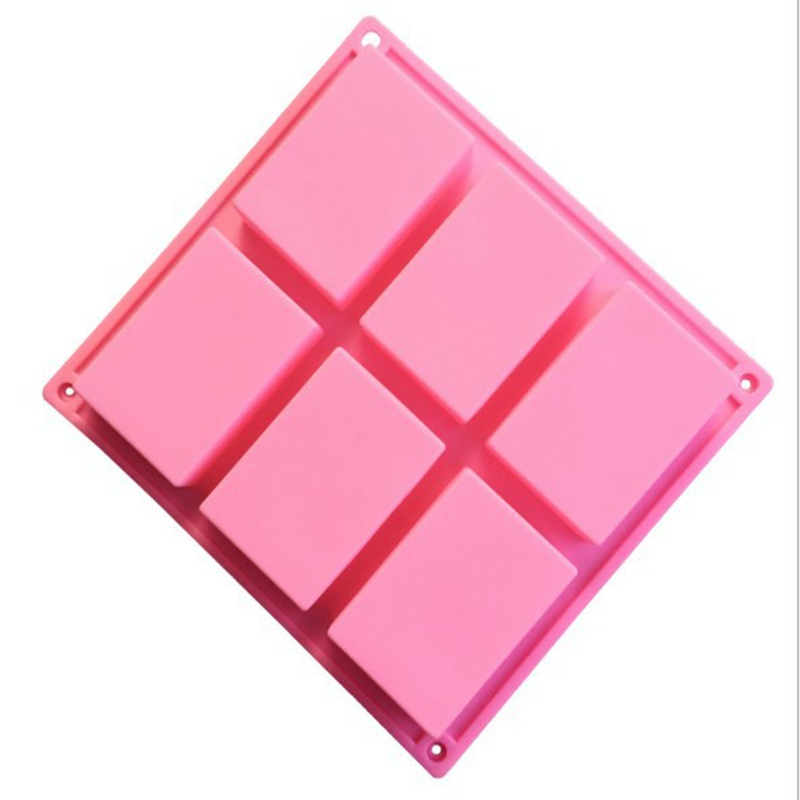 High Quality 6 Holes Basic Rectangle Silicone Soap Mold Mould Cake Bake Molds Silicone Forms For Homemade Food Craft Soap MakingHigh Quality 6 Holes Basic Rectangle Silicone Soap Mold Mould Cake Bake Molds Silicone Forms For Homemade Food Craft Soap Making