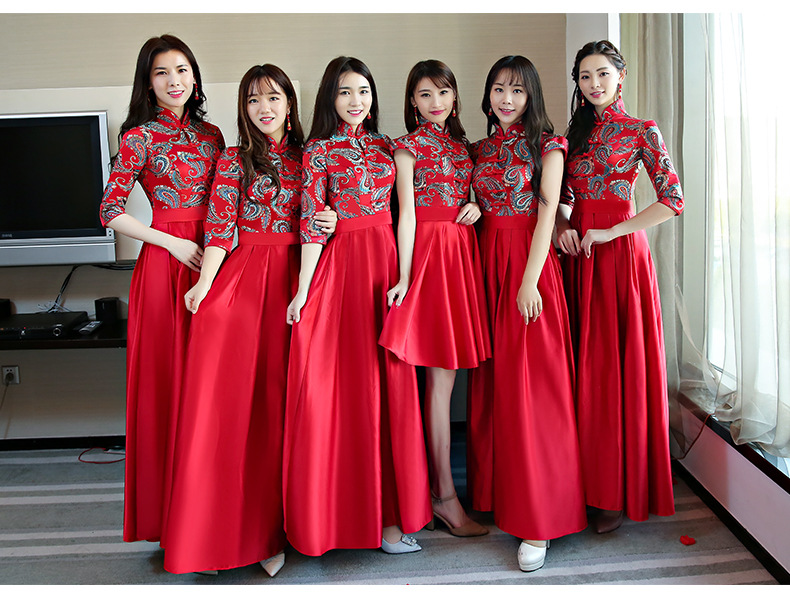 xlmodel - photo - 0000 . Black Red Chinese Traditional Dress Women s Silk  Satin Cheongsam Qipao Summer Short ... 88a2791f49b0