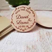 Personalized Wood Carved Handicraft Wood Save The Date Accessories Laser Cut Wedding Fridge Magnets Home Decor(China)